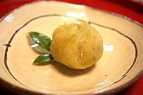 安納芋と栗のきんとん♪