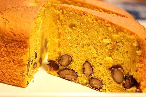万次郎と黒豆のケーキ♪