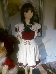 可愛いメイドの人形