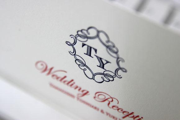 活版印刷の招待状、手作りの招待状