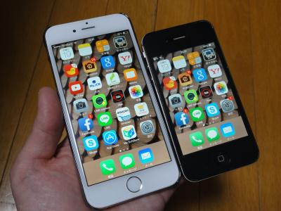 新旧iPhone。