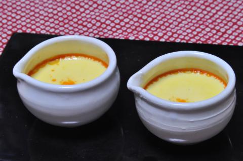 牡蛎の中華風茶碗蒸し