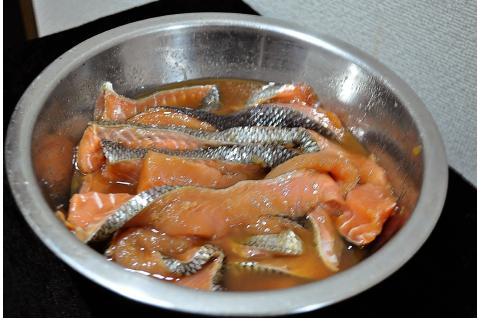 鮭のトバ1