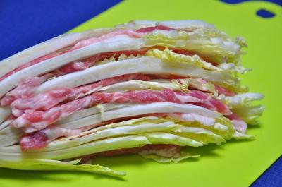 豚肉と白菜の重ね