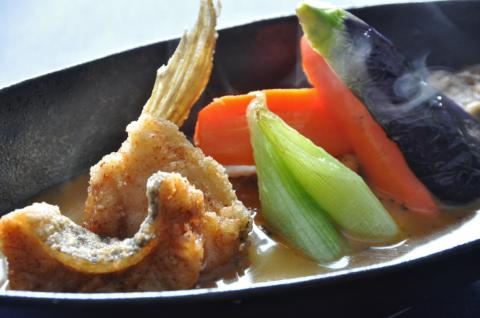 アブラコのスープカレー