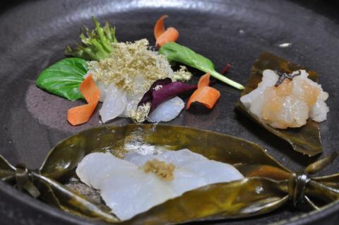 鱈の昆布締め三種盛り