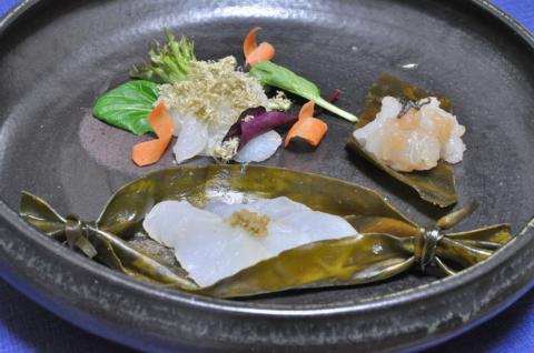 鱈の昆布締め三種盛り2