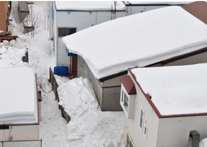 3月15日屋根の雪