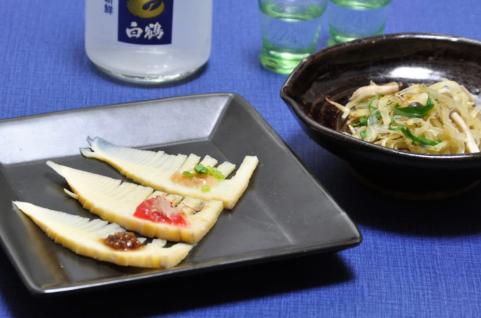 タケノコとジャガイモの塩きんぴら