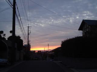 かわった夕焼け空