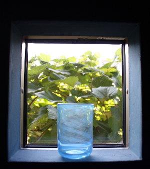 渦模様のグラス