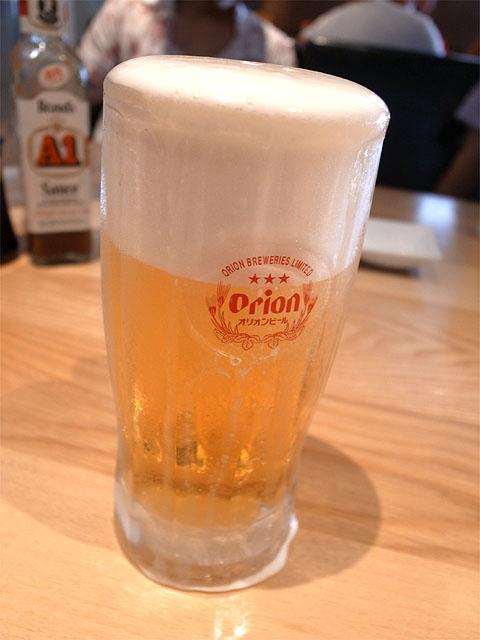 140621Stripe noodles-オリオン生ビール