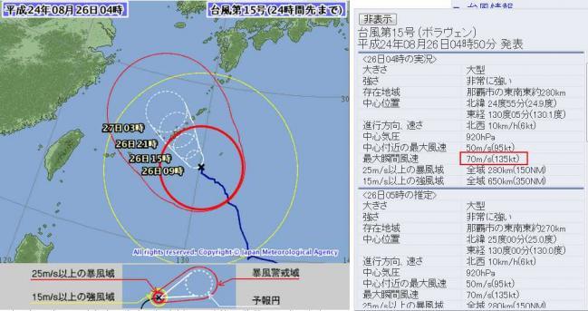 気象庁 - 台風情報15