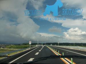 台風接近の夏雲