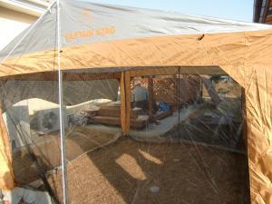 蚊帳つきテント