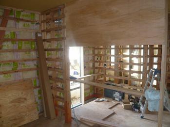 キッチン垂壁下地