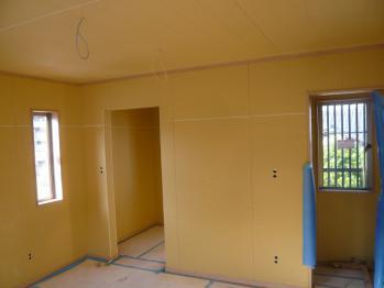 2F寝室ボード、廻り縁、巾木