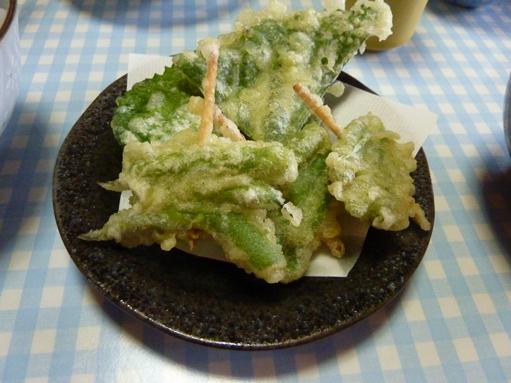 いんげんの天ぷら