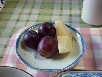 梨とピオーネ