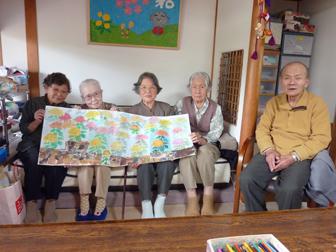 菊の壁絵3
