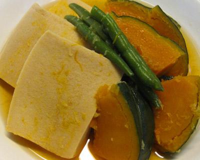 かぼちゃと高野豆腐
