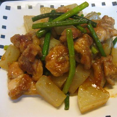 鶏と大根のオイスター炒め