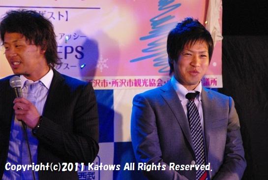 浅村選手、牧田選手2ショットその3