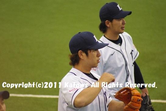中島裕之選手と浅村選手