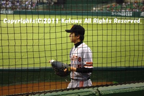 先発 澤村投手 試合前ブルペン