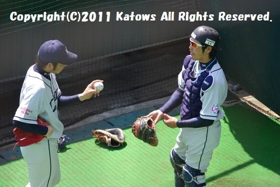 菊池投手-中田捕手1