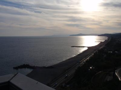 記念館屋上から見た桂浜
