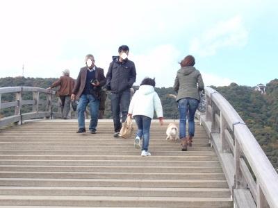 錦帯橋上2