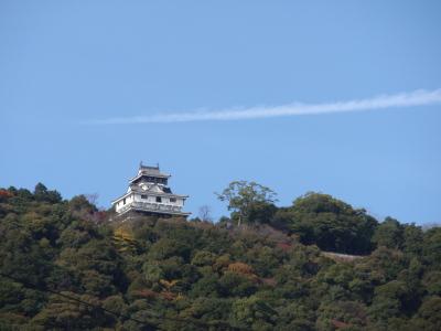 飛行機雲と岩国城