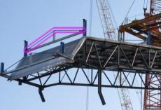 カバーの上の部材、引きの画だと上下間違えて付いてるんじゃないかと思ったが、寄りで見るとそういう事でもない?しかし斜めの鋼材の役割が益々分からんが。http://t.co/tS3erpaBF8RT @OfficialTEPCO http://t.co/B8