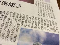藪の緑色の蕎麦は邪道だと思ってたけど、昔は蓬で色付けしてたのか。 #読売