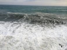 今日は波が高くて濁ってる。やっぱ風が強いからな。 #海 #海photo
