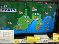 静岡の天気予報ってこんななのか。 #nhk