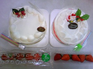 当選クリスマスケーキ引き換え