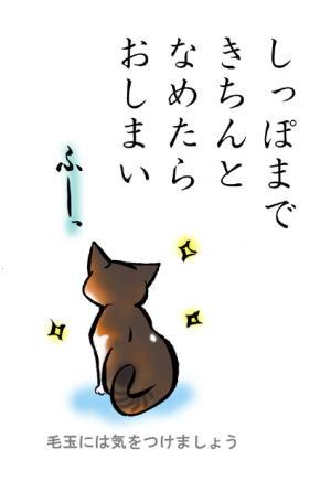 猫絵本「みだしなみ」8