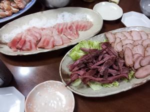 焼豚&刺身
