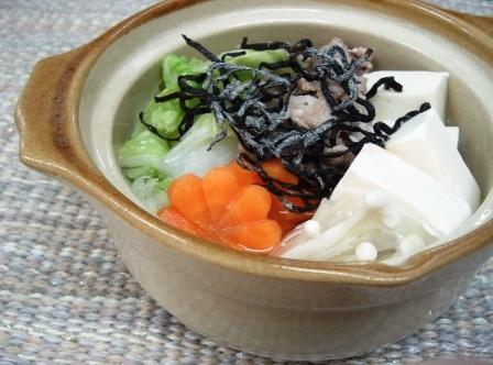 塩ふき昆布鍋
