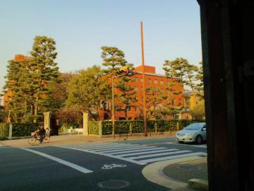 今出川御門から見える同志社