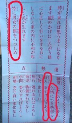 おみくじ2011年1月
