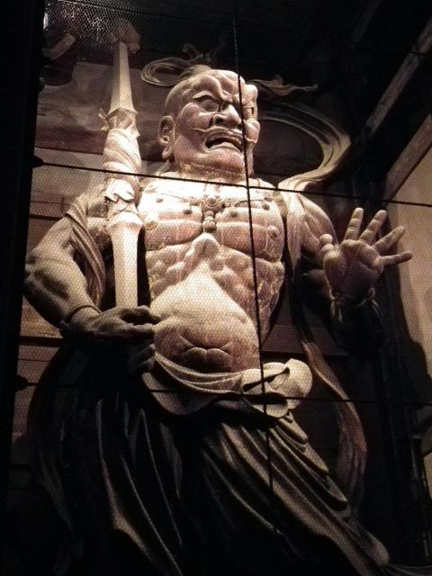 南大門仁王像ライトアップ1