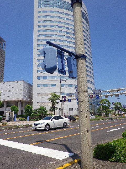 高松駅前の信号機