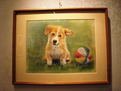 パステル画・子犬