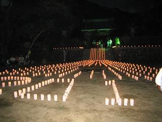 龍安寺のキャンドル