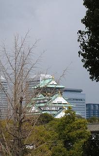 NHKから大阪城を見る