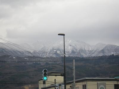雪の山形を