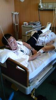 入院中で~す